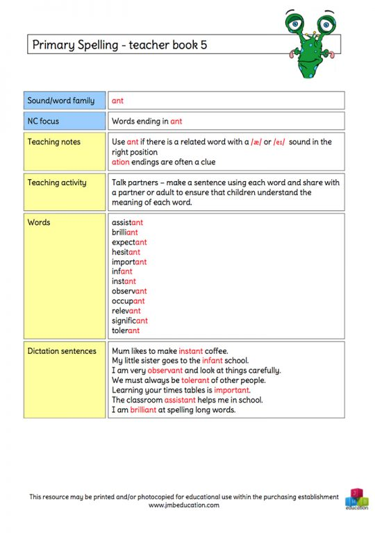 Primary spelling KS2 » JMB education