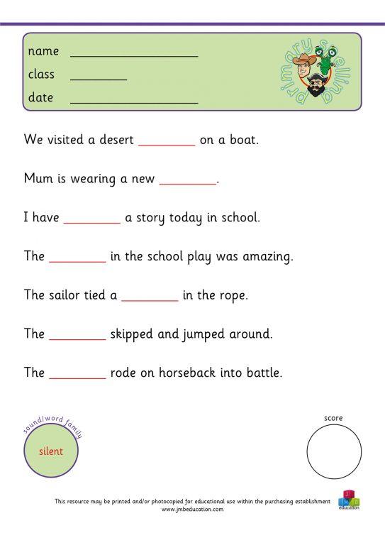 Primary spelling KS2 JMB education – Tion Worksheets