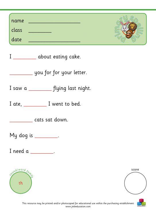 Primary spelling KS1 - JMB education